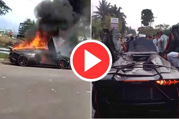 Video Mobil Lamborghini Aventador Raffi Ahmad Terbakar ⚫ Onlineberita.com Berita Terbaru Otomotif, Video Mobil Lamborghini Aventador Raffi Ahmad dan Nagita Slavina terbakar Viral.