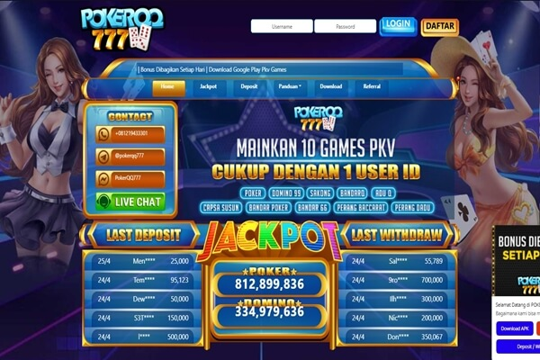 jackpot 777 online poker games
